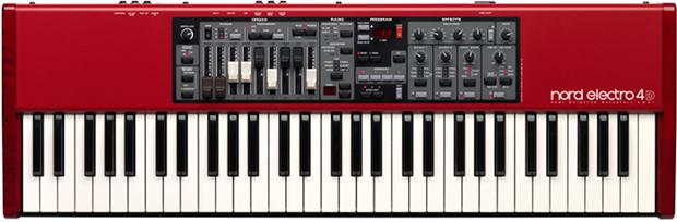 在首台 Electro 十周年之际 Clavia 隆重推出新的 Nord Electro 4D SW 61。  在超轻重量(7kg)的 Electro 4D 上配备有 61 键半配重 Waterfall 键盘,然后还有与 Nord C2D 同样坚固而且手感绝佳控制拉杆,而且还支持我们不断在增加的音色库。 音质是很有见地的,Nord Electro 4D 中有一系列改进: 风琴部分带有一个全新的源于我们原 Nord C2D 的音色控制轮引擎。