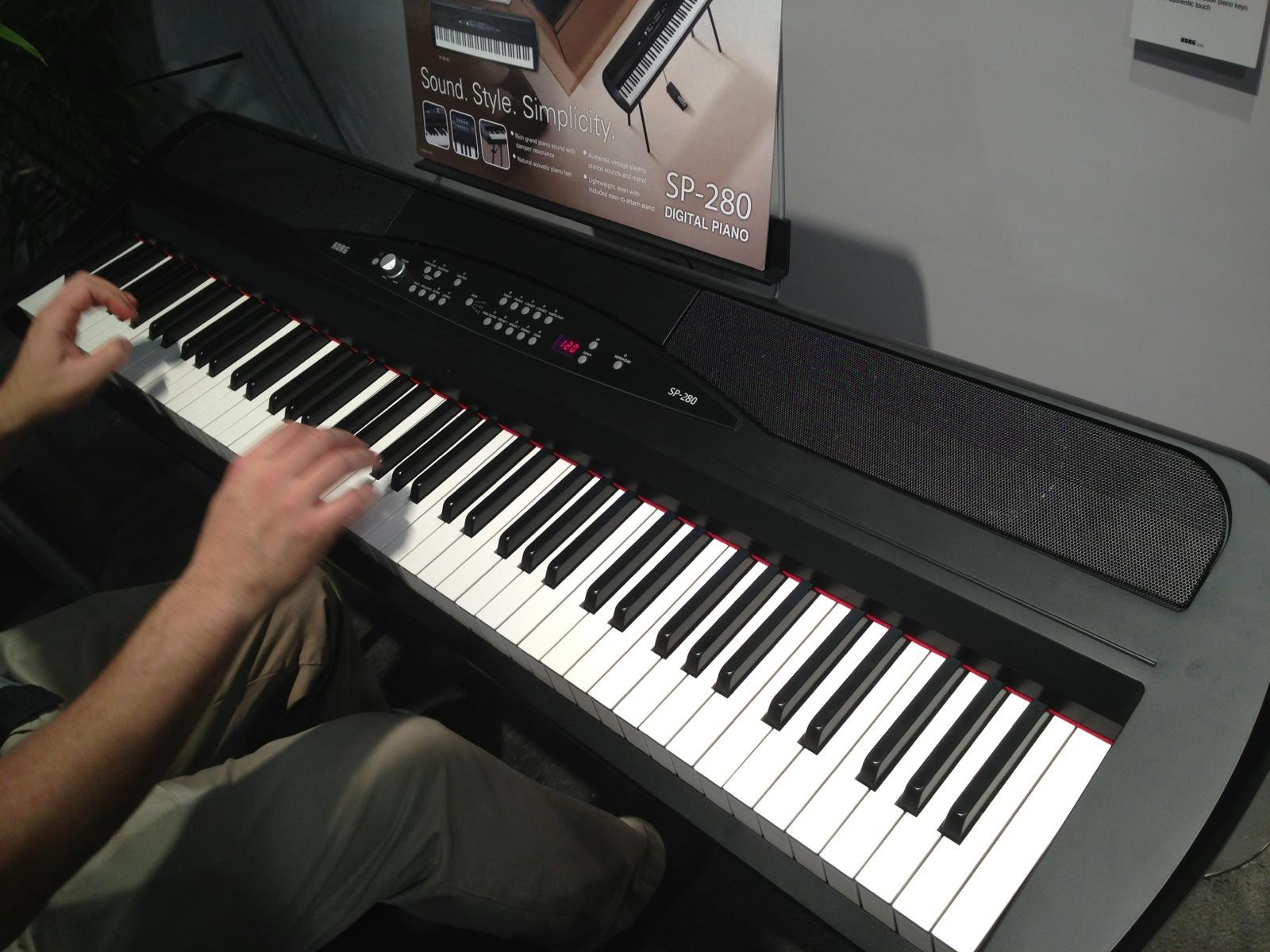 korg sp-280 电钢琴第一时间上手图片