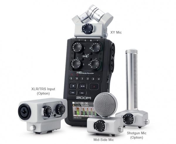 Zoom 发布模块化 H6 手持式录音机,可更换话筒头【转自midifan网站】 - 李V - 五四音频(54cctv.com)