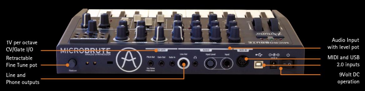 MicroBrute 提供了 100% 模拟电路,MIDI 以及 CV 连接和独特的功能,就像是一个模拟音色的港湾,带有 CV 连接,仅售 349 美元。MicroBrute 设计上做到了小巧,但是又保持了令人不可思议的声音品质。MicroBrute 提供了 100% 纯模拟声音电路以及灵活的 MIDI、USB、CV/GATE 连接。 模拟连接让它与其它模拟或模块化设备一起使用时变得非常有意思: