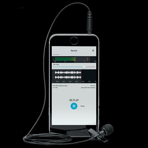 直接连接到平板或智能手机,MVL 设计与 Shure 的 iOS 应用 ShurePlus MOTIV Mobile 一起使用,能够在路途中加载针对数字录音的功能并能够让用户通过电子邮件分享音频文件。 通过领夹,MVL 领夹话筒可以安放在嘴巴附近以增强音频清晰度。标准的 1/8 英尺插入连接(TRRS),通过耳机插孔,录音到 iOS 或 Android 设备。排除了需要手持智能手机的需求,并为标准的智能手机录音提供了一个升级,MVL 专为近距离拾音而设计。设计和构建在 Shure 的技术标准上,MVL