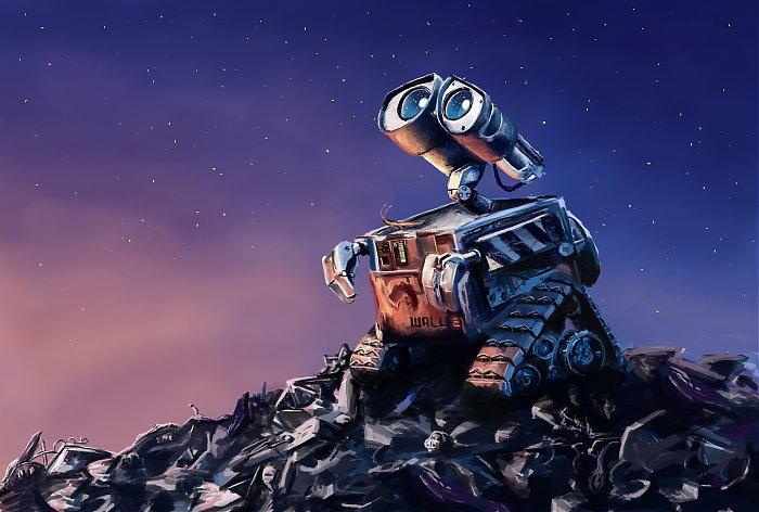 看到这种景象,我不由想到了机器人总动员瓦力.