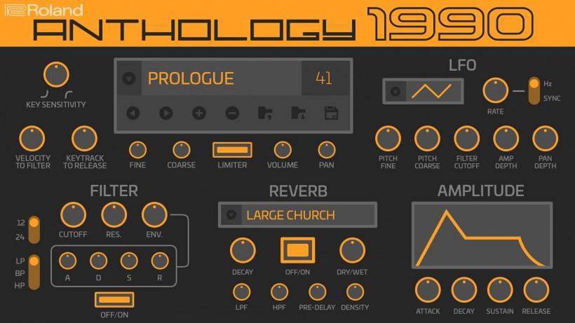 Roland Cloud 4.2 再加入新合成器:Anthology 1990