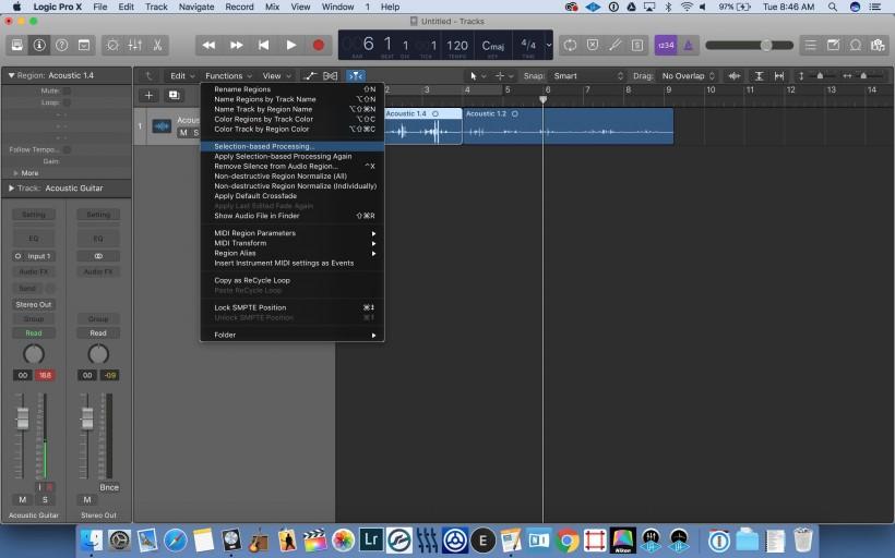 Logic Pro X 小贴士:基于选择的效果处理(10.3.1新功能)