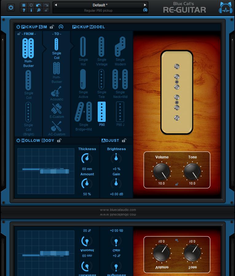 Blue Cat Audio 发布超级吉他音色建模效果器插件 Re-Guitar