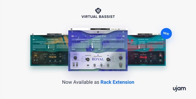 UJAM 的 Virtual Bassist 虚拟贝斯手三剑客登录 Reason