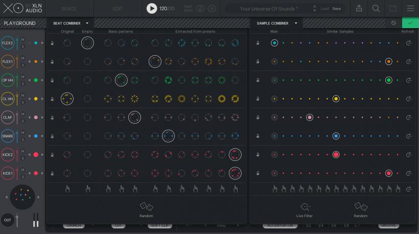 在宇宙里寻找属于你的那串星座:XLN Audio 发布革命性的节奏制作插件 XO