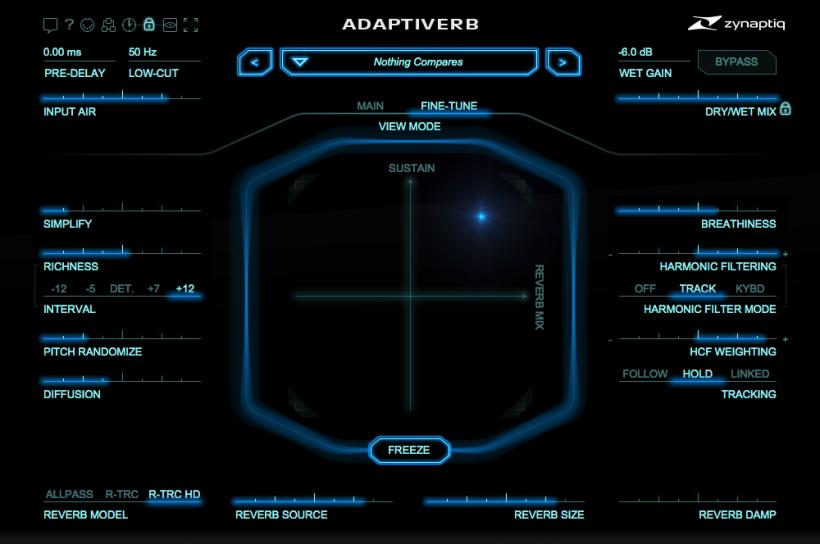 Zynaptiq 升级 ADAPTIVERB 1.2,加入知名声音设计师的预制