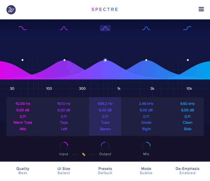 Wavesfactory 发布 Spectre 1.5 声音塑形器