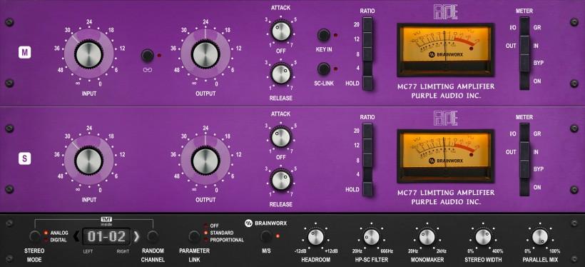 Brainworx 把复刻了 1176 的 Purple Audio MC77 做成了插件