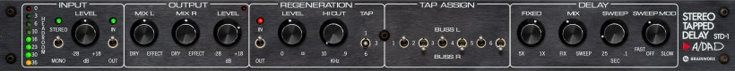 Brainworx 发布 ADA STD-1 Stereo Tapped Delay 多头延迟效果器插件