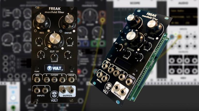 虚拟 Eurorack 软件 VCV Rack 里 VULT 家的 Freak Filter 出实体 Eurorack