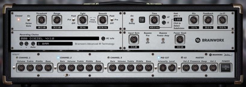 Plugin Alliance 推出 Brainworx 制作的 Diesel Herbert 电子管吉他放大器插件