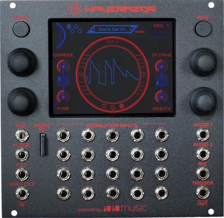 MOK 和 1010music 合作的 Waverazor Dual Oscillator 双振荡器 Eurorack