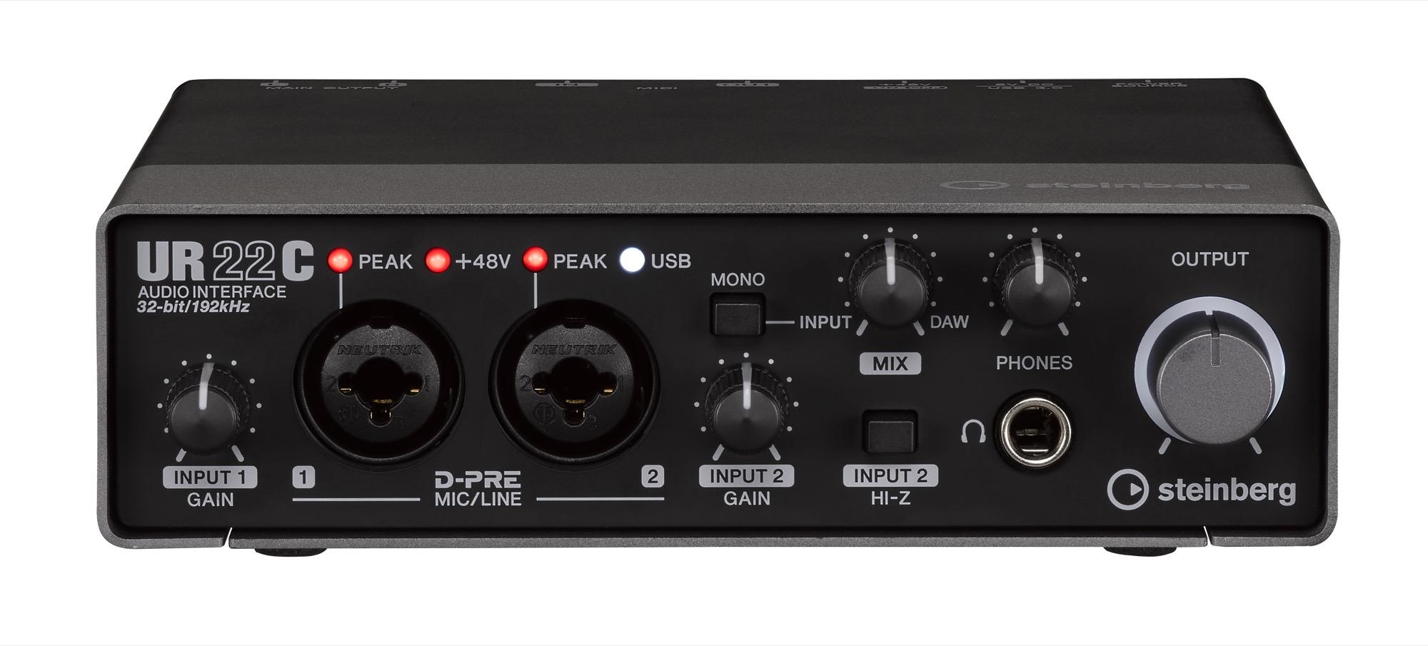 以及DSP驱动的REV-X混响、Channel Strip通道条和Guitar Amp Classics经典吉他放大器模拟(也赠送VST 3和AU格式的插件版本) USB 3.0供电即插即用(USB 2.0接口需要额外供电) 带有MIDI输入和输出接口 坚固的金属外壳 赠送支持PC/Mac的Cubase AI音乐制作软件和iOS版的Cubasis LE iPad音乐制作应用 跨平台兼容性