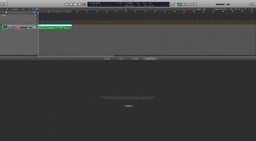 Logic Pro X 中的智能节拍(Smart Tempo)――无需点击即可获得完美节拍计时