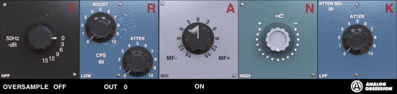 福利:Analog Obsession 免费的 FRANK 终极版染色均衡器