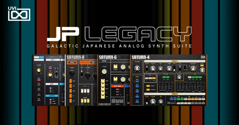 UVI 发布 JP Legacy,一网打尽 Roland Jupiter 合成器音色