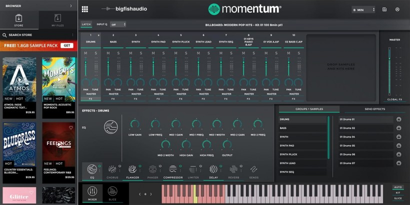 Big Fish Audio 发布免费的 Momentum 插件让你完全掌控 Loop 和采样