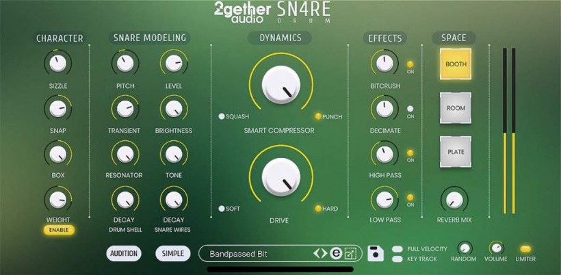 2getheraudio 发布 SN4RE Drum VI 电军鼓音源插件