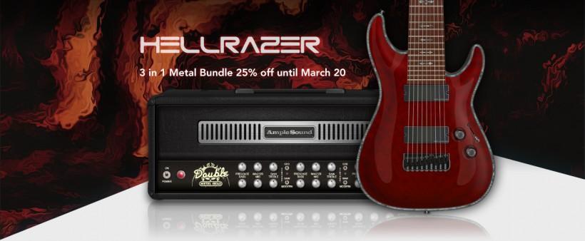 Ample Sound 发布有 AI 技术助力的 Hellrazer 九弦金属吉他 Ample Metal Hellra
