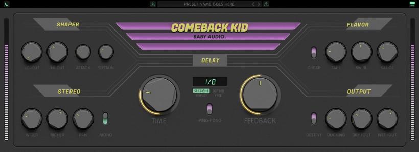 Baby Audio 发布 Comeback Kid 模拟风格延迟插件