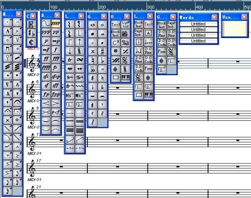 钢琴五线谱符号大全图片; midi-大觉者电脑音乐教程『第十七课』——