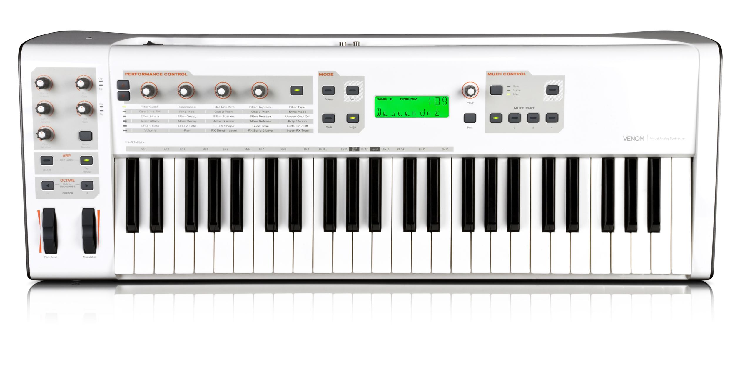 M-Audio第一款49键合成器,同时内置音频接口和MIDI接口,当然也可作为MIDI键盘和控制器使用,可配合Pro Tools M-Powered软件一起使用。 Vedom主要特性: